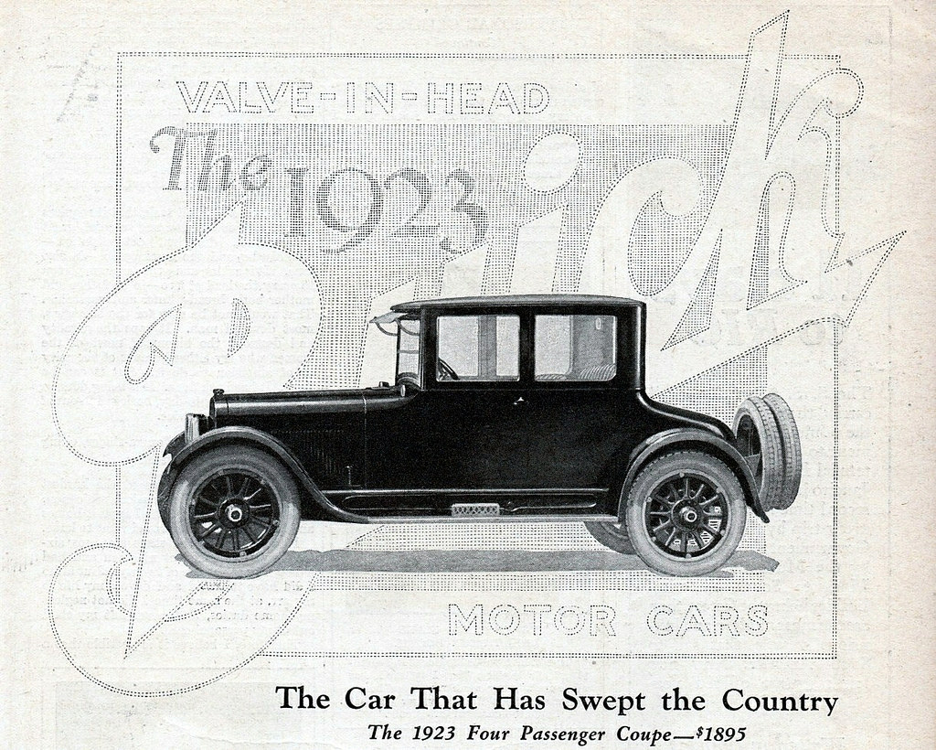 1923 Buick Four Passenger Coupe