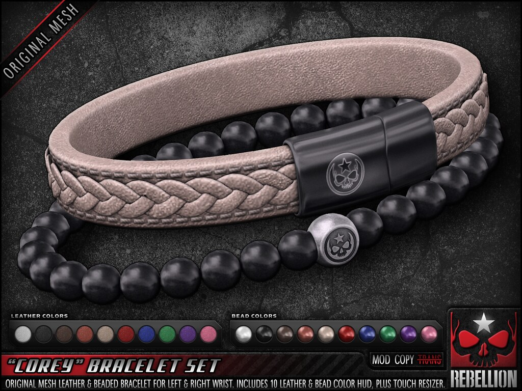 "= REBELLION = ""COREY"" BRACELET SET"