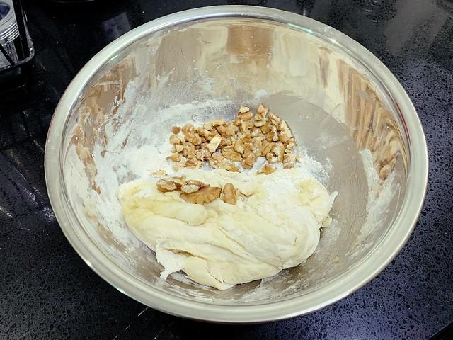 Mixing Walnuts
