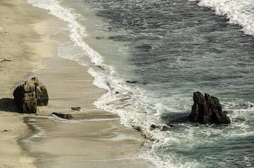 beach playa mar see oceano ocean chile azul landscape paisaje roca piedra water agua wave olas nikonnaturephotography