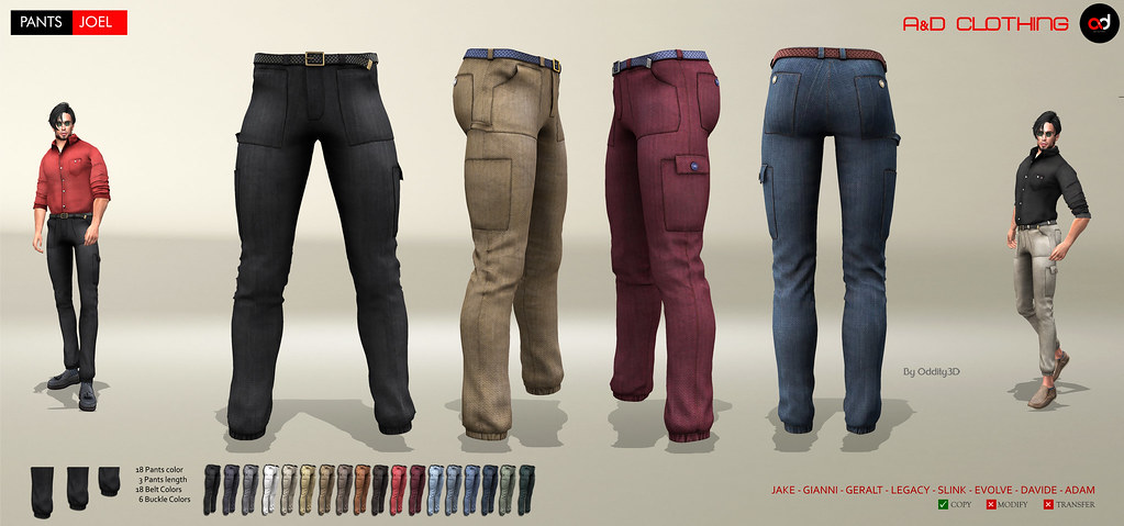 ! A&D Clothing – Pants -Joel-   NewRelease
