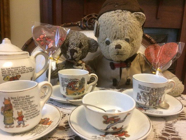 Paddington and Scout Take Tea for Two