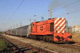 1568 at Porto de Sines on special train 13868/9 to Funcheira, 6th February 2011