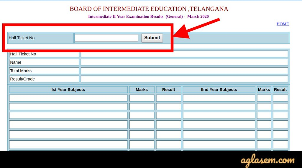 TS Intermediate 2nd year result 2020