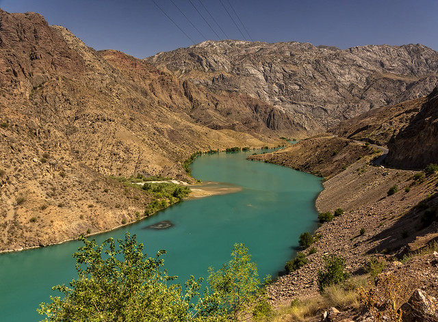 The Naryn river