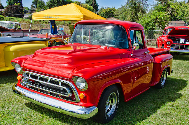 Red 1957 Chevy Pickup