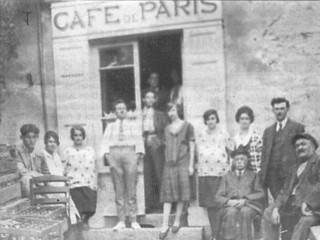 1930, le café de Paris tenu par la légendaire dame Cécile