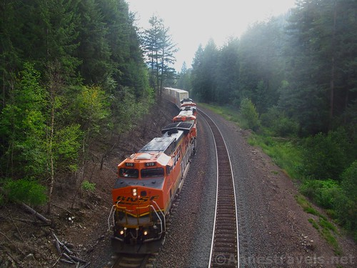 Burlington & Santa Fe Train at Kootenai Park, Cabinet Mountains, Montana