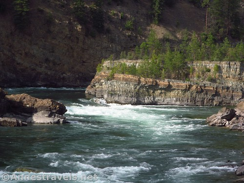 More views up the Kootenai River from the swinging bridge, Cabinet Mountains, Montana