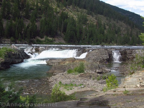Kootenai Falls from the viewing area.  There aren't any guardrails. Cabinet Mountains, Montana