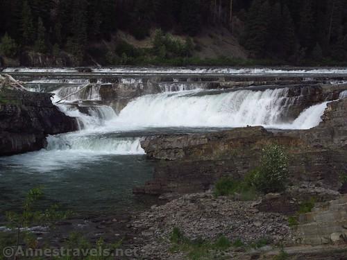 Close up of Kootenai Falls, Cabinet Mountains, Montana