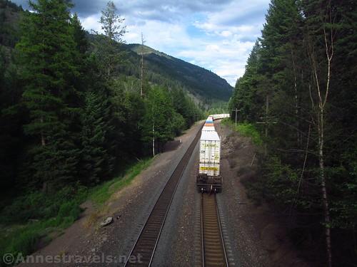 The end of the BNSF Train, Kootenai Park, Cabinet Mountains, Montana