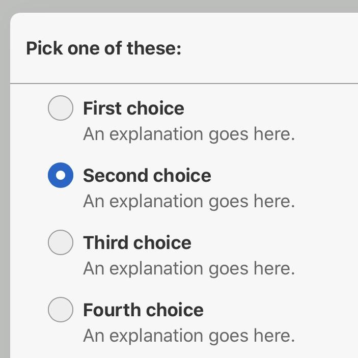 Single-selection mode