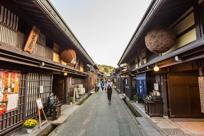 Una de las calles principales de Takayama