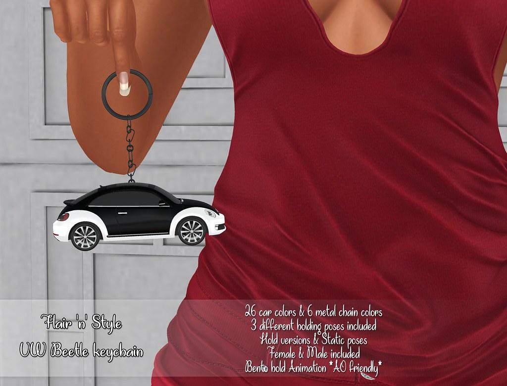 {Flair 'n' Style} VW Beetle keychain
