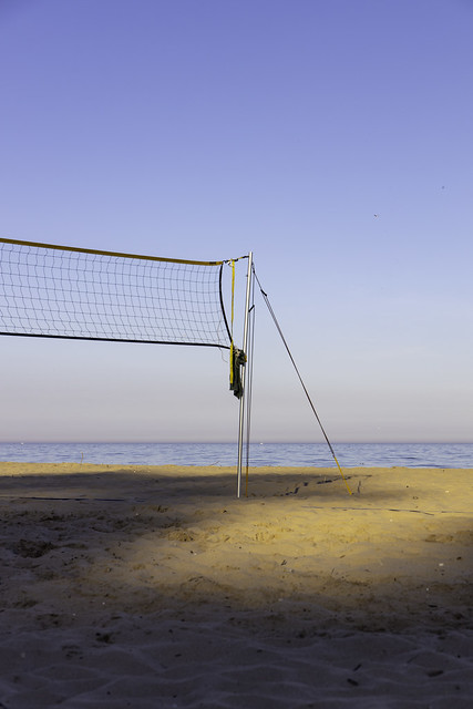 Sunset Volleyball Net