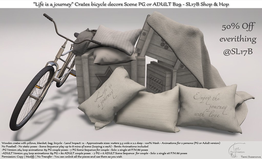 ".:Tm:.Creation ""Life is a journey"" B29 for SL17B Shop & Hop"