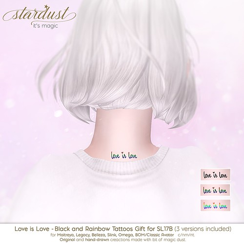 .Stardust's Love is Love Gift at SL17B Shop & Hop plus Sales - June 19th.
