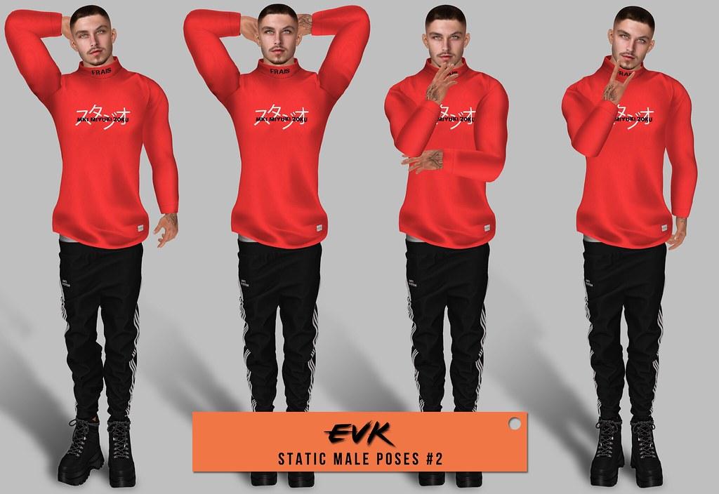 [ E V K ] Static Male Poses #2