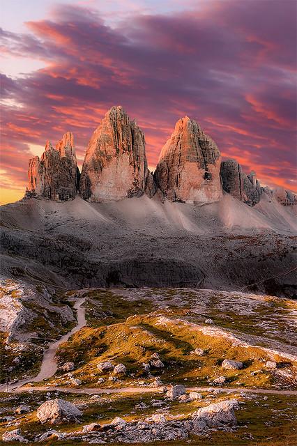 Morning Glow | Tre Cime di Lavaredo, Dolomiti (Italy)