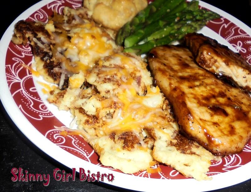 Photo: Cheese-topped cauliflower potato pancakes
