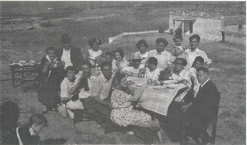 Romería de la Virgen de la Guía en 1949. Foto cedida por la familia Córdoba para el libro de Emilio Vaquero Fernández-Prieto dedicado a la ermita en 1996