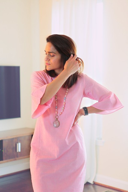 bhaane pink dress tanvii.com