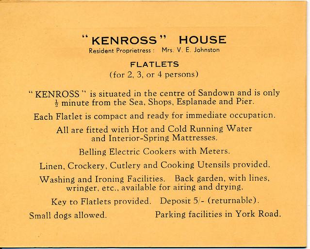 Kenross House, Sandown, 1961/2