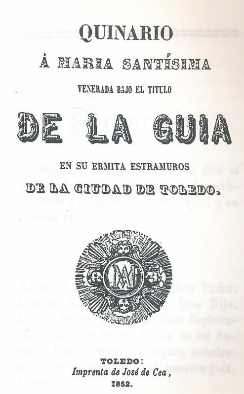 Quinario de la Virgen de la Guía, año 1852