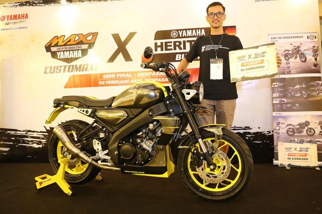 Athanasius Ketut Hargunanto - Pemenang kategori Yamaha Heritage Built XSR 155 CustoMAXI x Yamaha Heritage Built Denpasar 2020