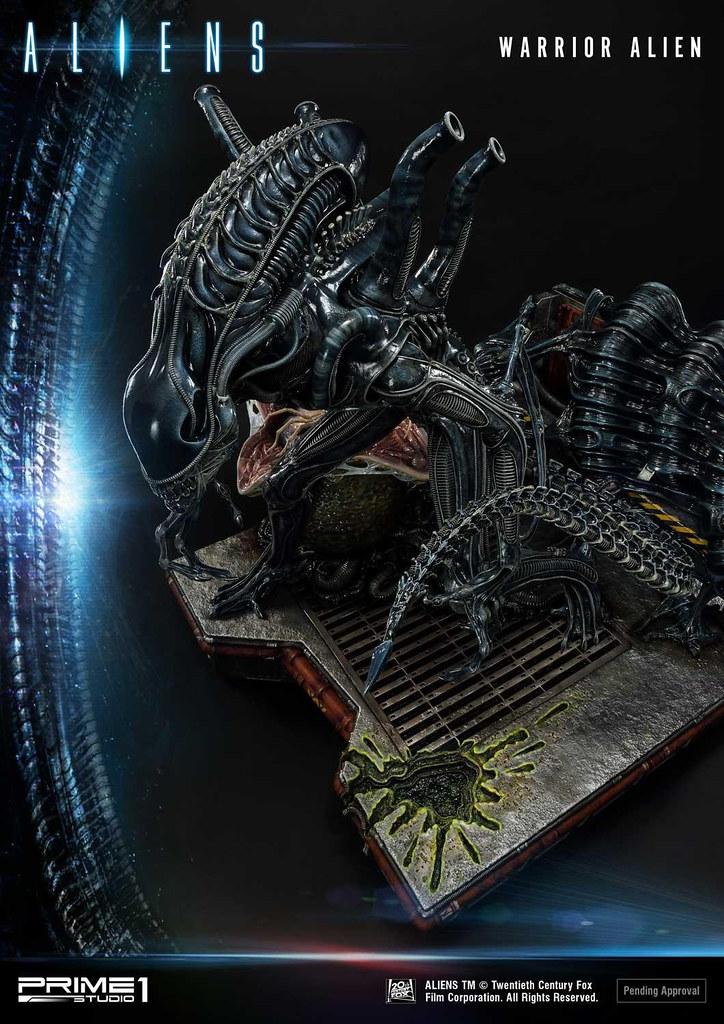 再現異形入侵的恐懼感! Prime 1 Studio《異形(黑馬漫畫)》異形戰士(ウォーリアーエイリアン)PMDHAL-02 無比例全身雕像 普通版/DX Bonus版