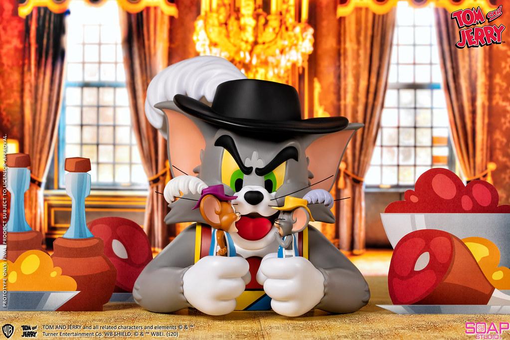 捉到兩個搗蛋鬼! Soap Studio《湯姆貓與傑利鼠》湯姆貓與傑利鼠-三劍客(Tom and Jerry - Musketeers)半身胸像