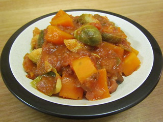 Chipotle Chili with Sweet Potatoes and Brussels Sprouts