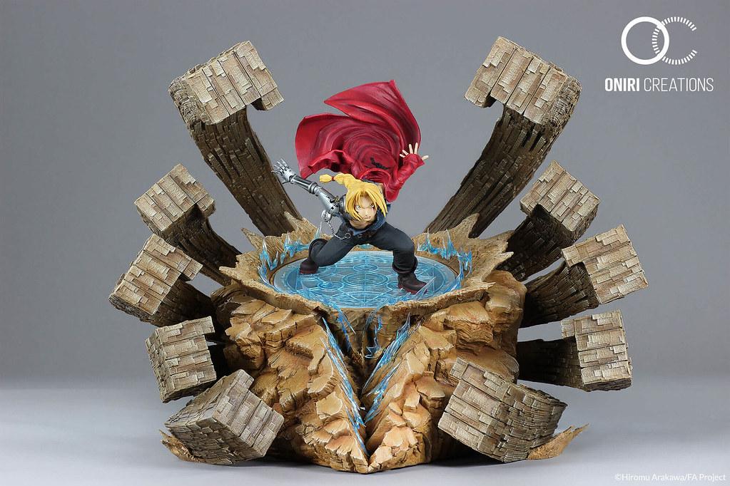 最終決戰!Oniri Creations《鋼之鍊金術師》愛德華‧愛力克-激烈反擊 1/6比例場景雕像(EDWARD ELRIC – A FIERCE COUNTER-ATTACK)
