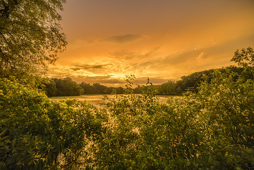 wing lake minnetonka minnesota mn water summer sunset hdr canon eos 5ds 5dsr 14mm 24 rokinon sp f45 landscape green humid after storm horizon yellow skies cloudy rain stormy fiery