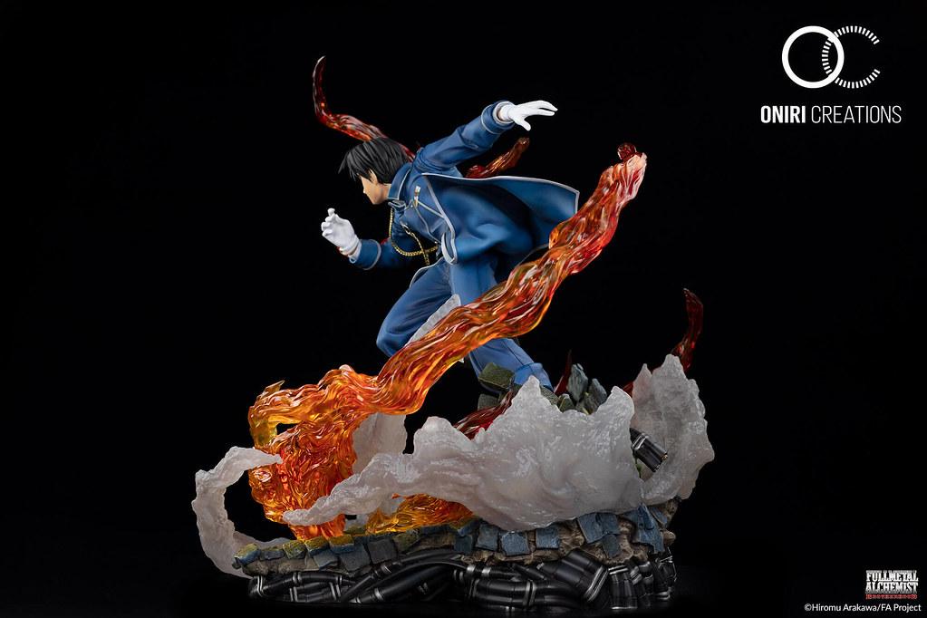 怒火燃燒的復仇激戰!Oniri Creations《鋼之鍊金術師》焰之鍊金術師「羅伊‧馬斯坦古」1/6比例場景雕像(ROY MUSTANG– THE FLAME ALCHEMIST)