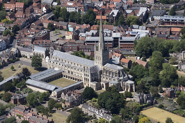 Norwich Cathedral aerial image