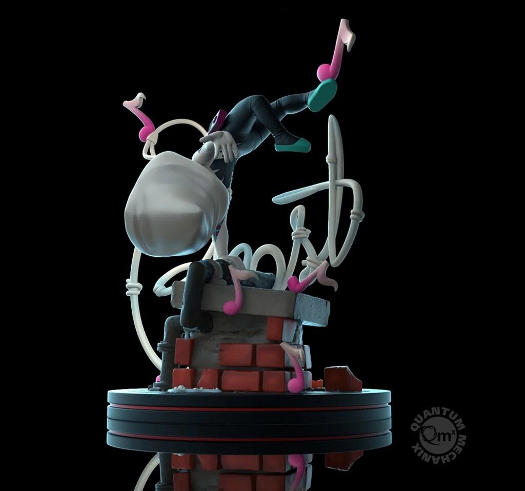 騰飛半空的靈活姿態~ Quantum Mechanix Q-Fig 系列 Marvel Comics【女蜘蛛人·關】Ghost-Spider Q-Fig Elite Diorama