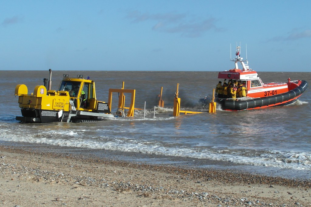 Launching at Caister