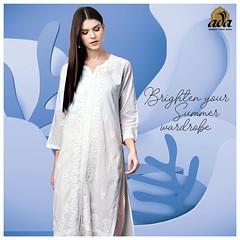 Ada Hand Embroidered chikan white kurti