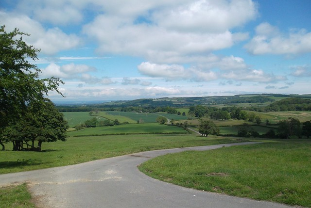Grimston Brow Luddith Road Yorkshire Wolds descent