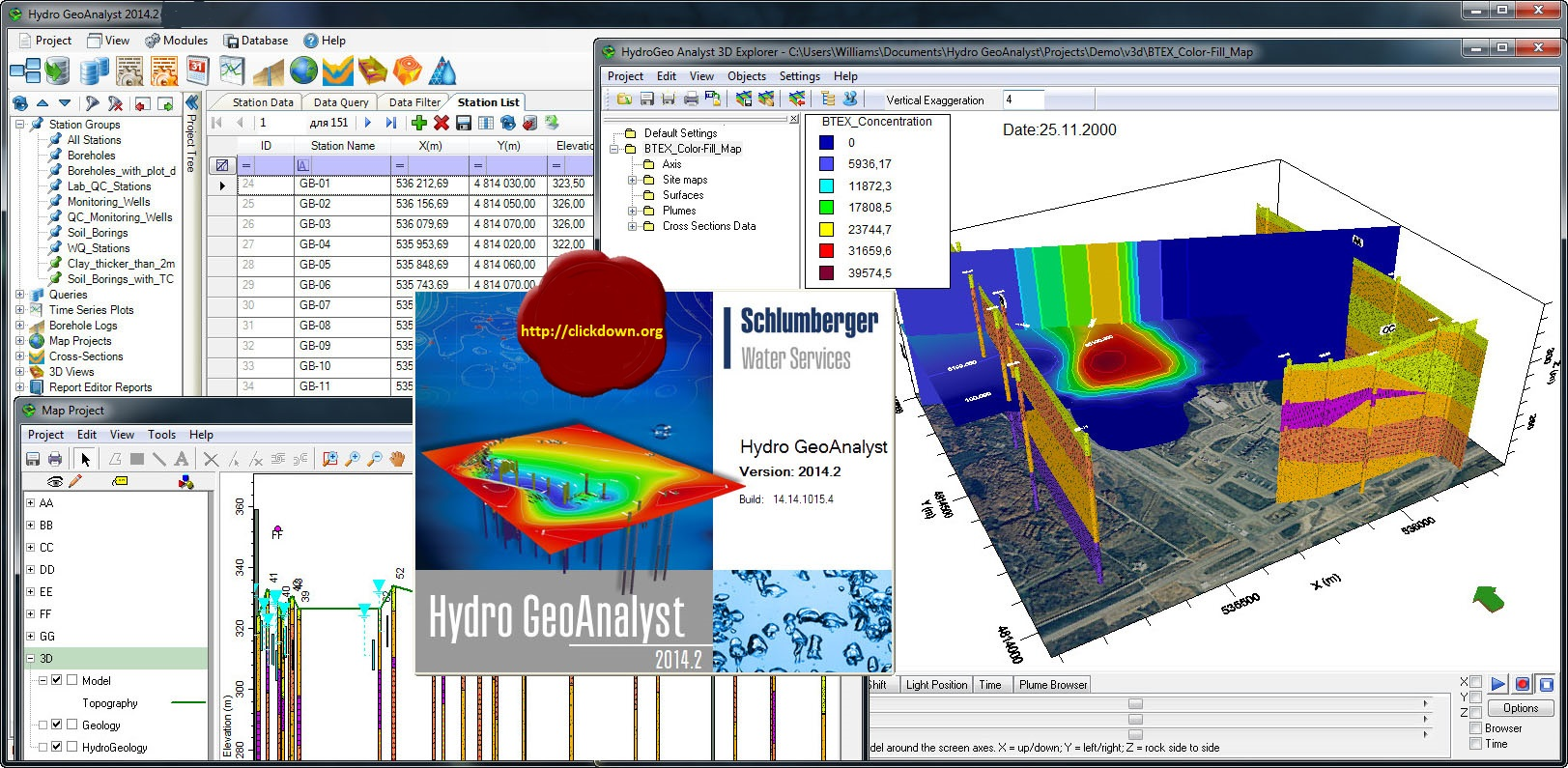 Working with Schlumberger Hydro GeoAnalyst 2014.2 full license