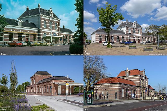 Sneek - standaard station te Delfzijl en Tiel