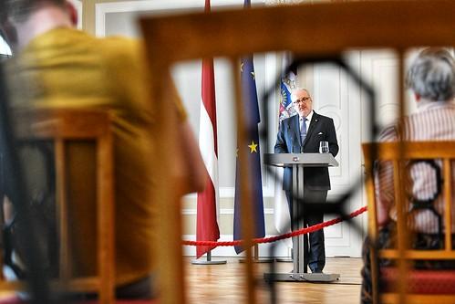 19.06.2020. Valsts prezidenta Egila Levita preses konference par Administratīvi teritoriālās reformas likumu
