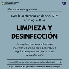 Covid-19 Cleaning & Sanitizing Requirements - Spanish