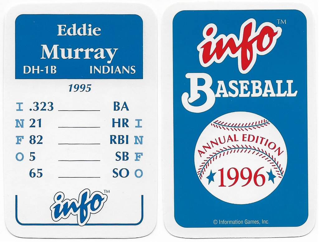 1996 Info Baseball Game Cards - Murray, Eddie