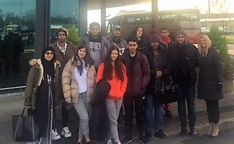 South and City College students at Shannon Airport