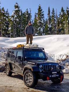 Max Byng on Jeep, Meziadin-March, 16, 2020