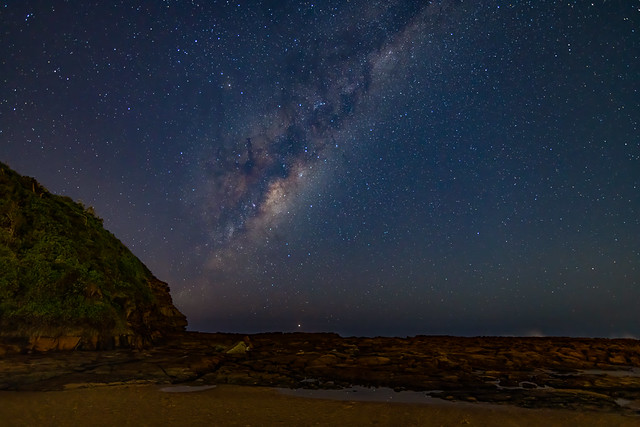 Milky Way Night Sky at the Beach