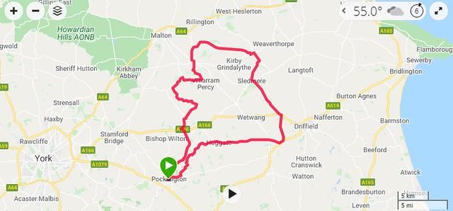 Pocklington Sledmere Thixendale loop Garmin Connect